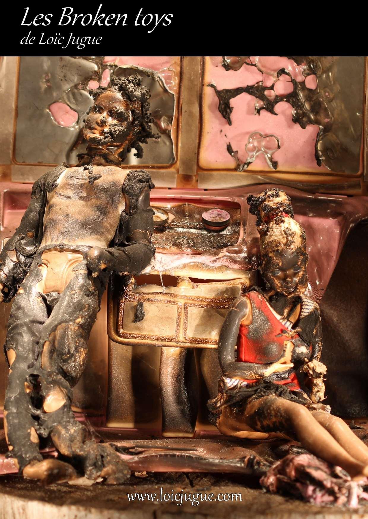 Les broken toys de Loïc Jugue: Barbie et Ken