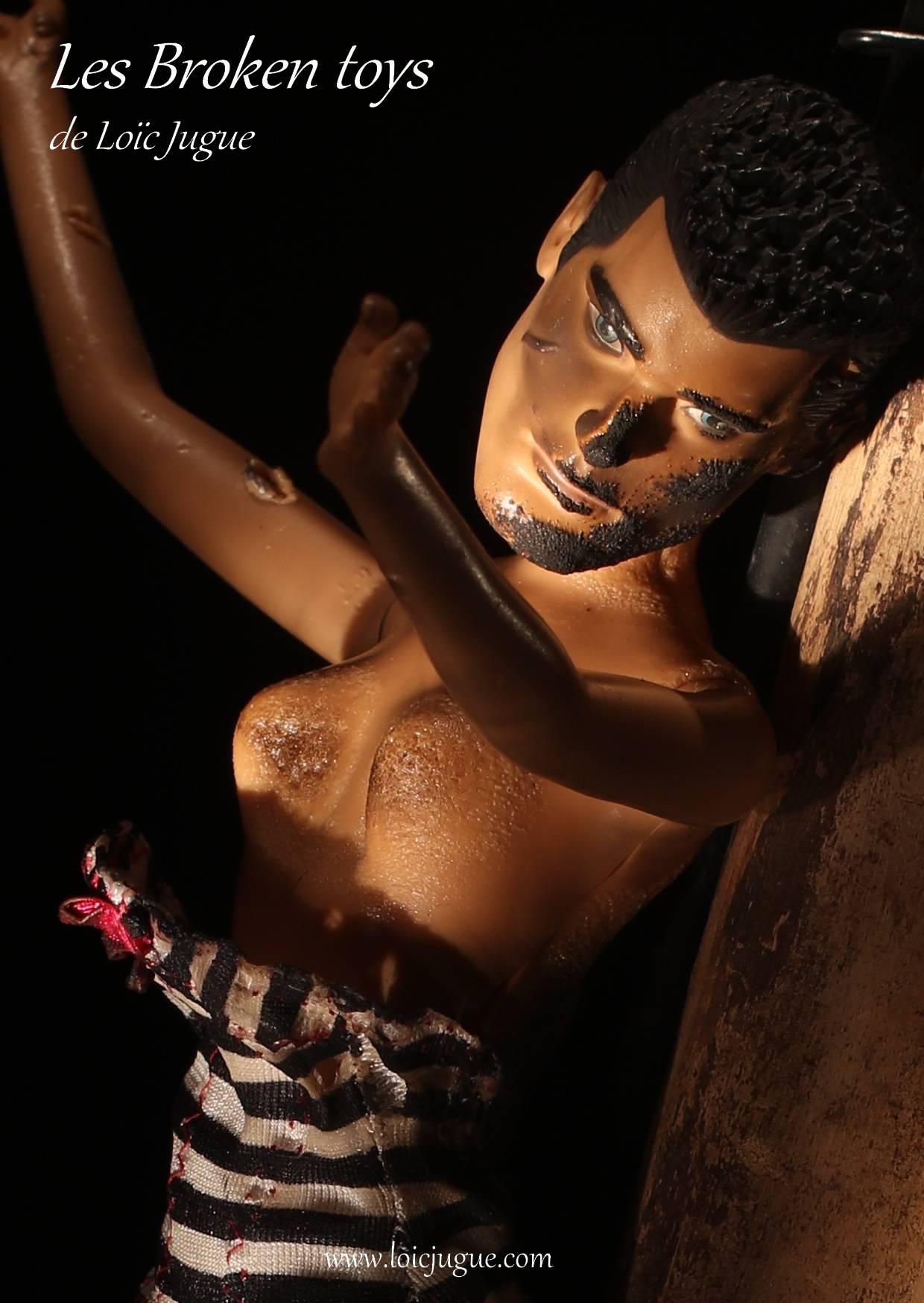 Les broken toys de Loïc Jugue:  La chute(détail)
