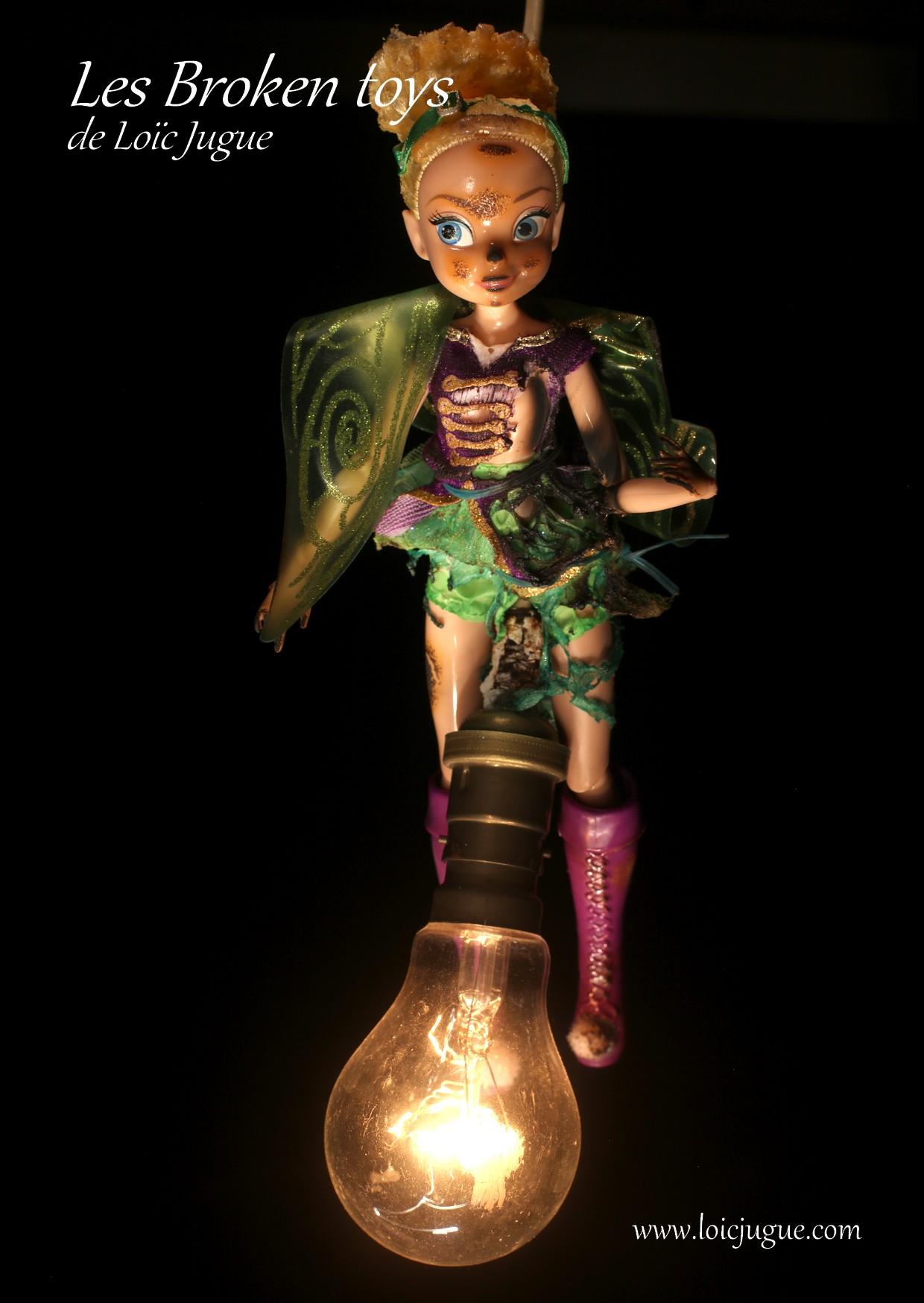 Les broken toys de Loïc Jugue: La fée électricité (avant)