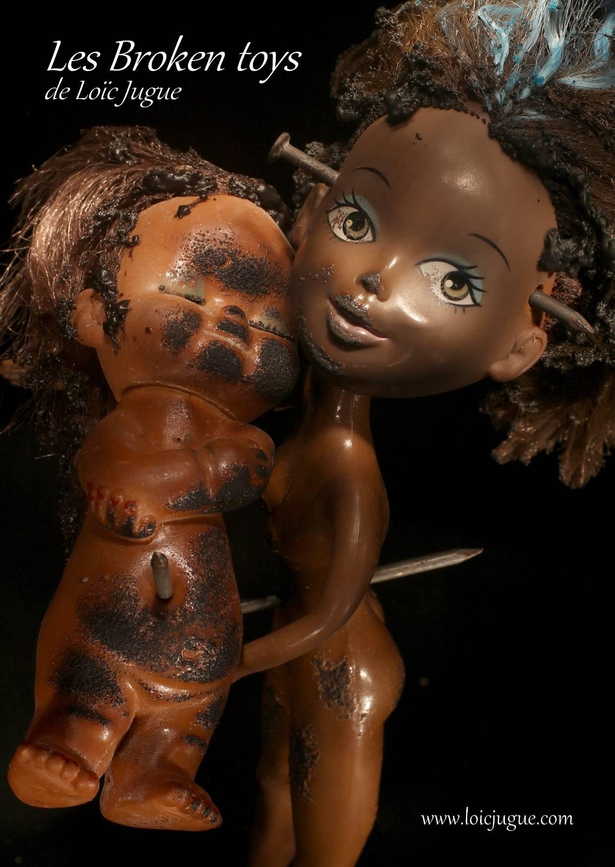 Les broken toys de Loïc Jugue: La jeune fille au poupon