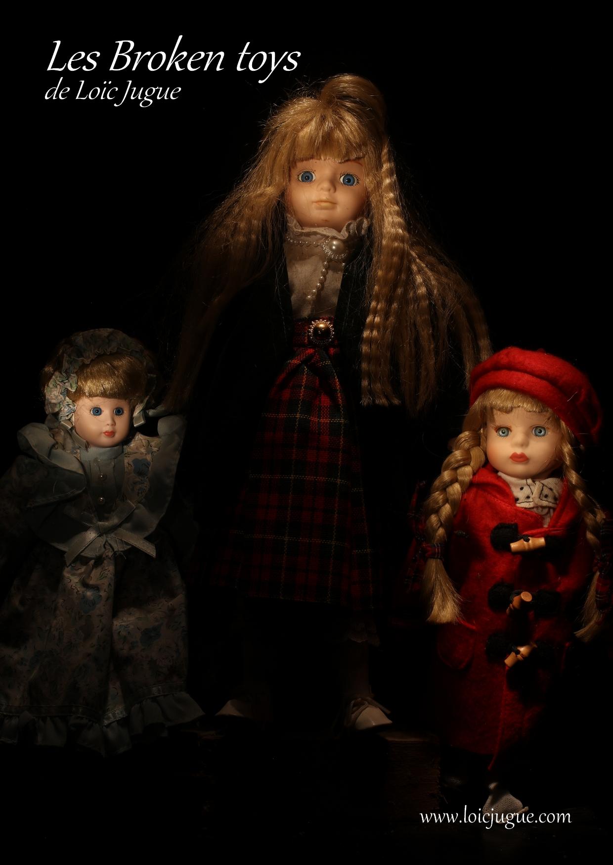 Les broken toys de Loïc Jugue: Les trois soeurs