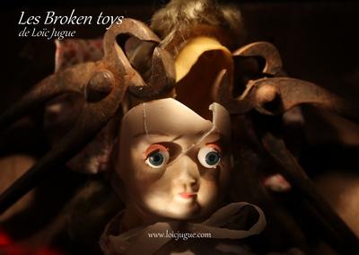 Les broken toys de Loïc Jugue: La leçon d'anatomie (détail)