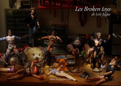 Les broken toys de Loïc Jugue: L'atelier de l'artiste