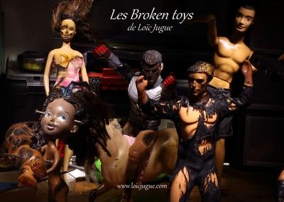 Les broken toys de Loïc Jugue: L'atelier de l'artiste (détail 1)