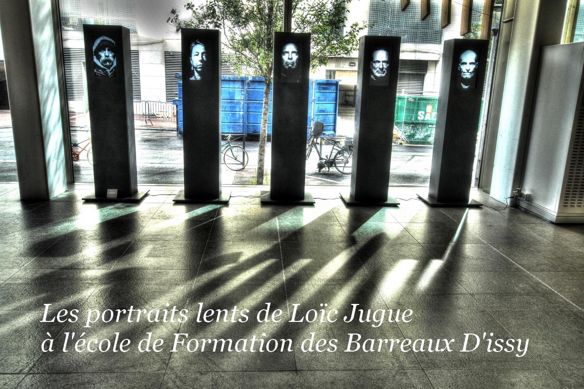Installation Les portraits lents de Loïc Jugue
